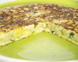 Tortilla de Patatas con Berenjena